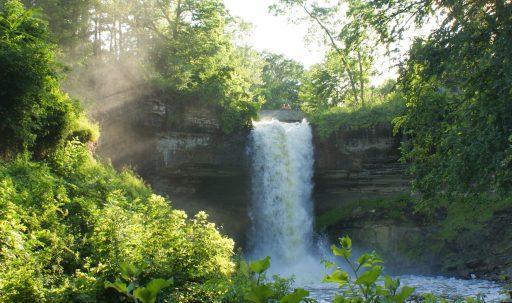 waterfall_cascade_trees_summer-1920x1080
